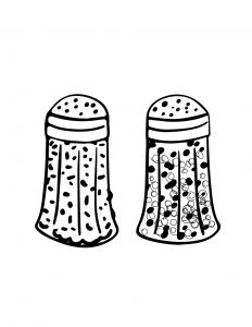 Salt Pepper Coloring Sheet