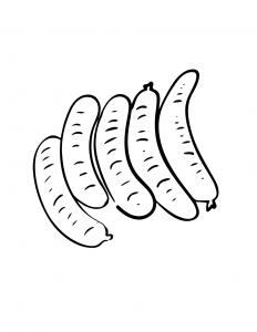 Sausages Coloring Sheet