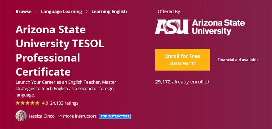 Coursera TESOL Certificate