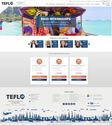 TEFL Institute Ireland Website
